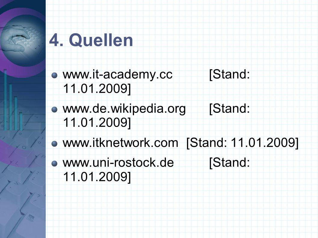 4. Quellen www.it-academy.cc [Stand: 11.01.2009]